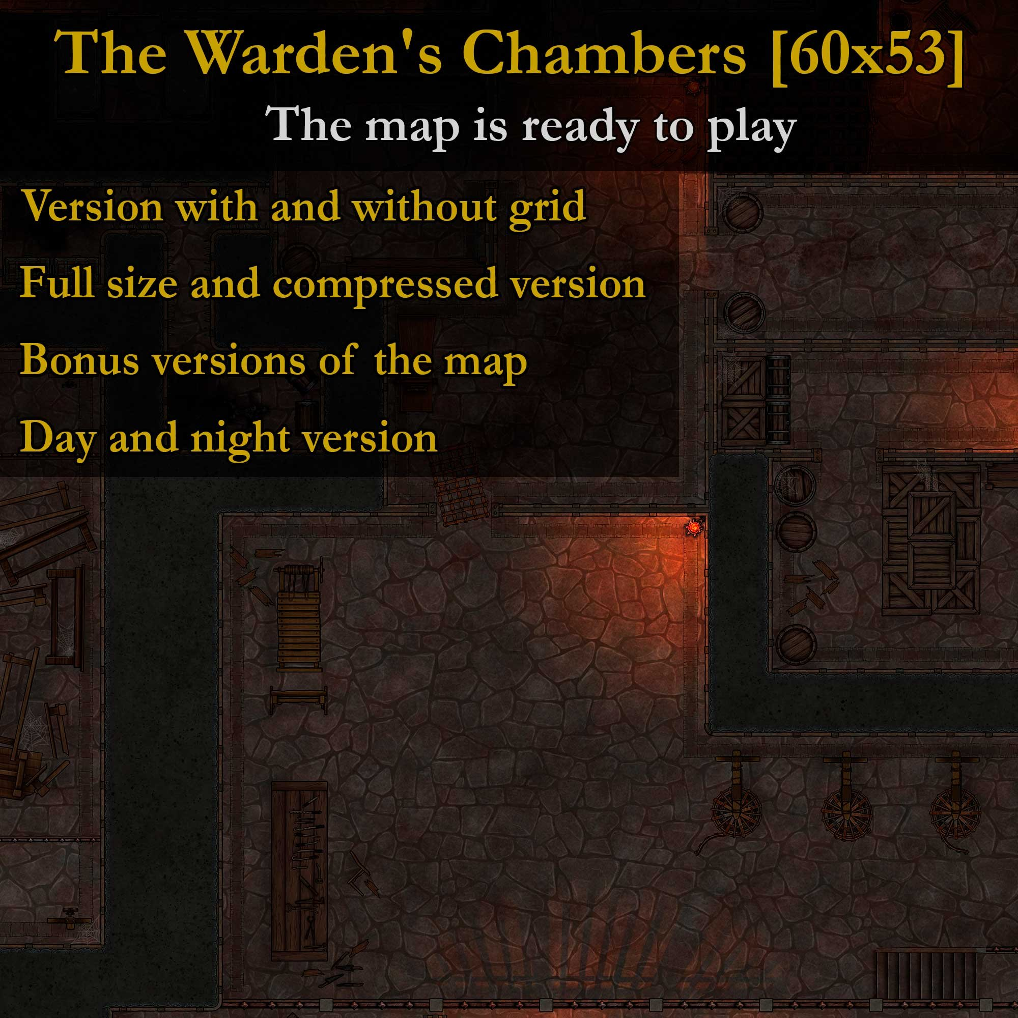 The Warden's Chambers (Path Of Exile) [60x53] – Large detailed map ready to play