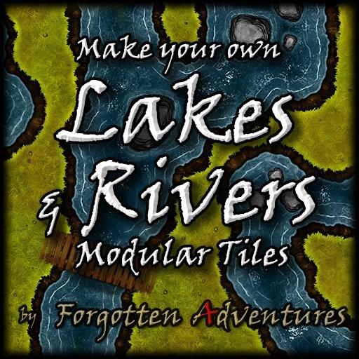 Make your own Lakes and Rivers, Tile Set Pack