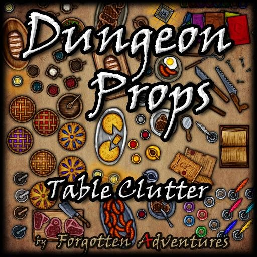 Dungeon Props - Table Clutter