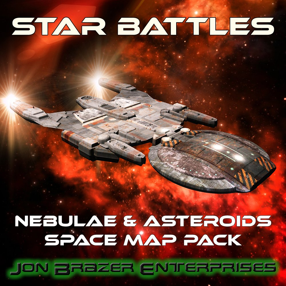 Star Battles: Nebulae and Asteroids Space Map Pack