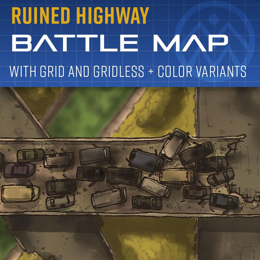 Ruined Highway Battle Map