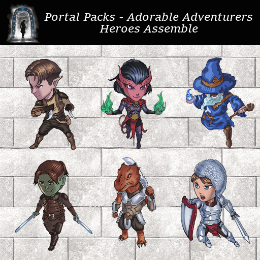 Portal Packs - Adorable Adventurers - Heroes Assemble