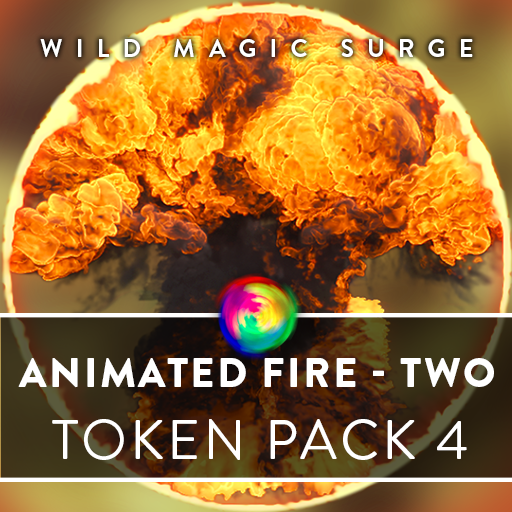 Animated Fire Tokens - Two